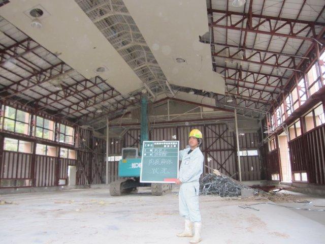 府中市 第四中学校 校舎解体・プール解体工事2