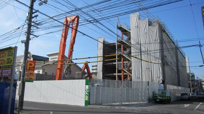 岡山市 中山第3ビル・中山第6ビル 解体工事風景3