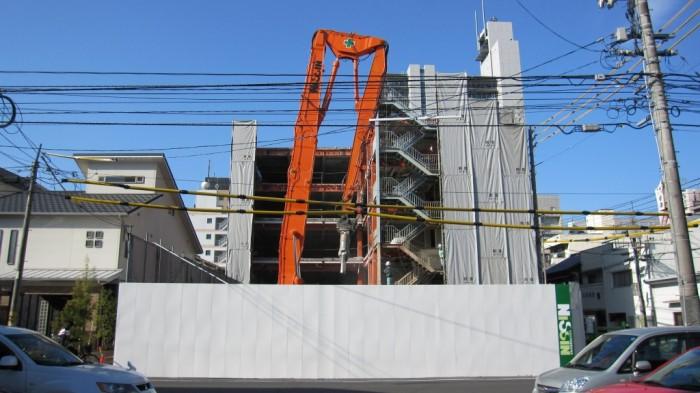 岡山市 中山第3ビル・中山第6ビル 解体工事風景4