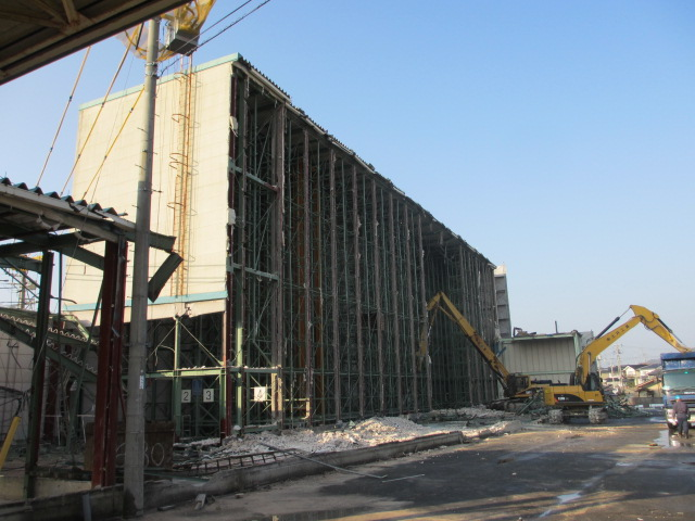 リョービパワーツール(株)配送センター 解体工事風景2