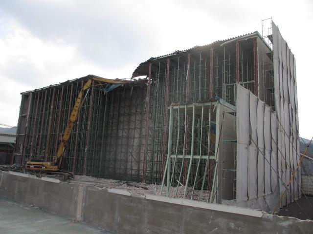 リョービパワーツール(株)配送センター 解体工事風景1